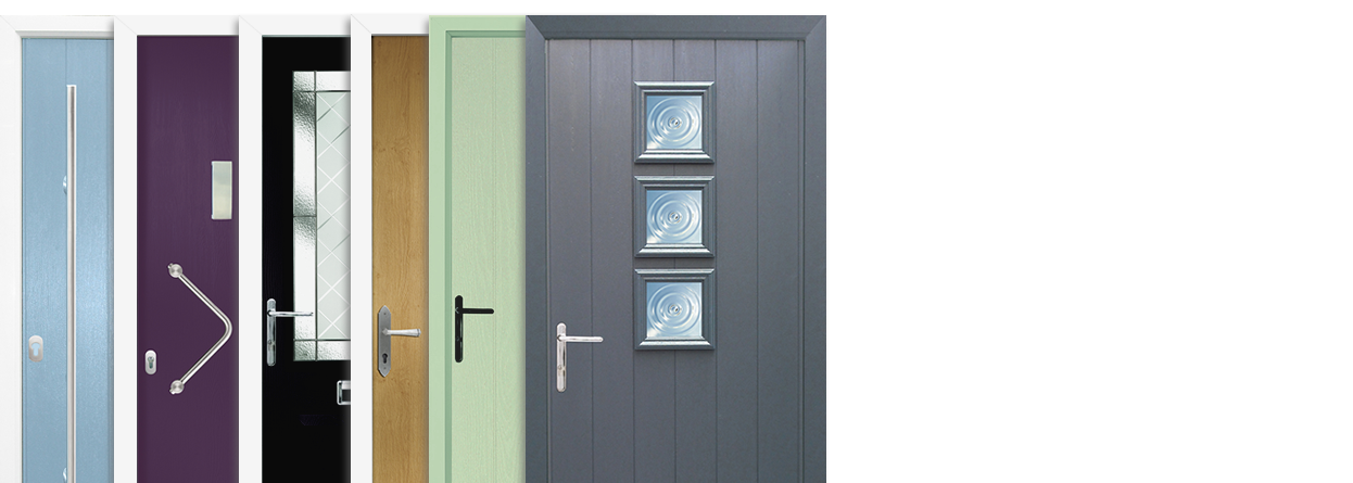 A range of composite door styles to choose from